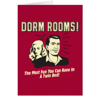 Dorm Room: Most Fun Twin Bed Card