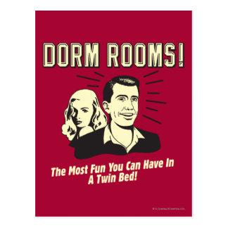 Dorm Room: Most Fun Twin Bed Postcards