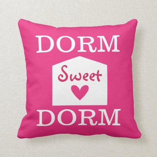 Decorative Pillows For College : Dorm Sweet Dorm College Room Decor Pillow Zazzle