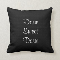 Dorm Sweet Dorm Faux Textured Personalized Throw Pillow