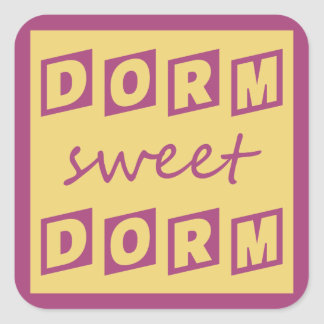 """Dorm Sweet Dorm"" stickers"