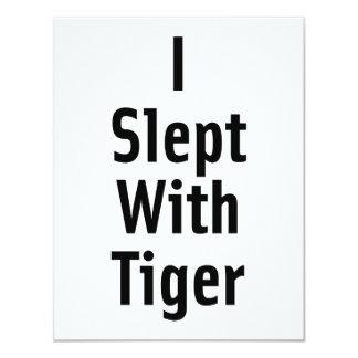"""Dormí con el tigre invitación 4.25"""" x 5.5"""""""