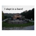 Dormido en una postal del granero