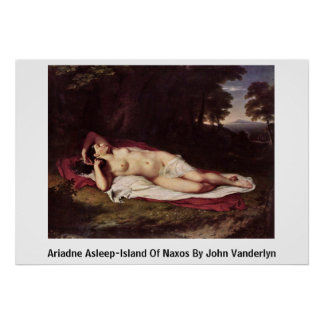 Dormido-Isla de Ariadne de Naxos de Juan Vanderlyn Póster