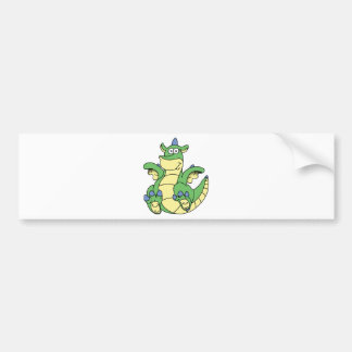 Dormie the baby dragon bumper sticker