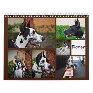 Dormilón el calendario del perro de la terapia