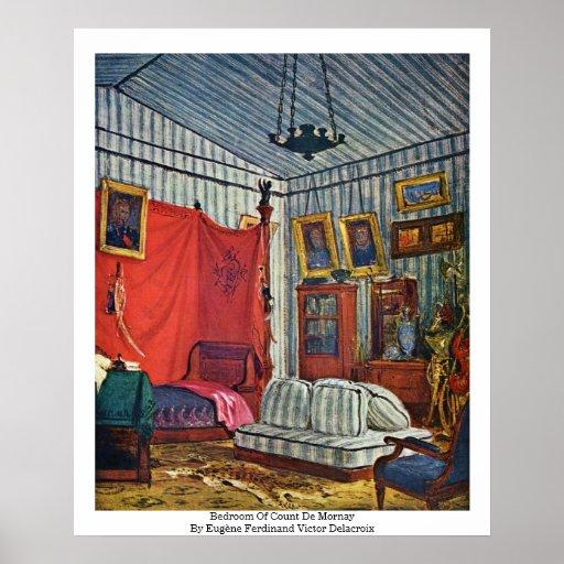 Dormitorio de la cuenta De Mornay Póster