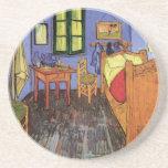 Dormitorio de Van Gogh Vincent en Arles, bella Posavasos Manualidades