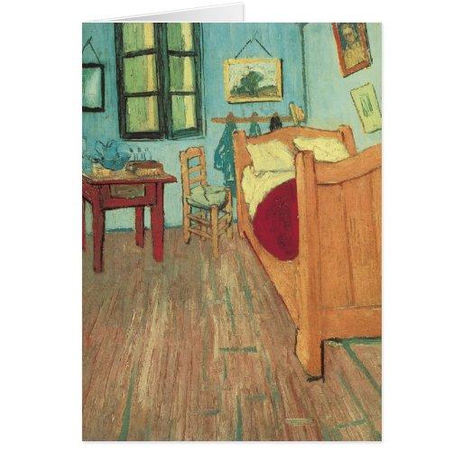 Dormitorio en Arles de Vincent van Gogh Tarjeta De Felicitación