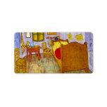 Dormitorio en Arles de Vincent Willem Van Gogh Etiqueta De Dirección