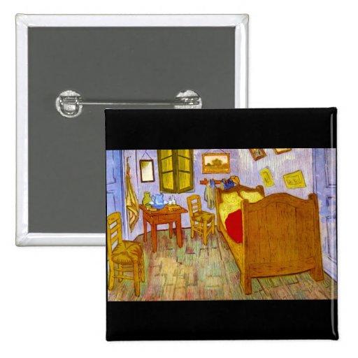 Dormitorio en Arles de Vincent Willem Van Gogh Pin
