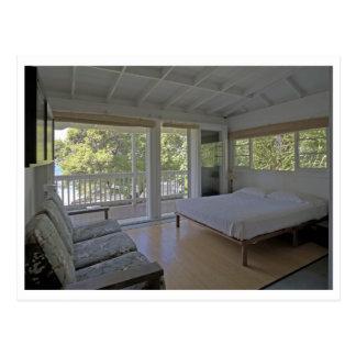 Dormitorio en la cabaña del zen de la playa en Kon Postales