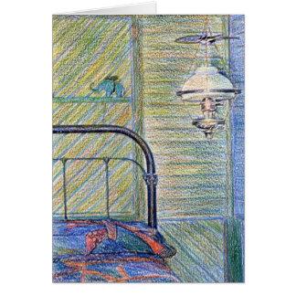 Dormitorio pasado de moda Notecard Tarjetas