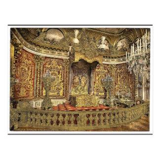 Dormitorio real, castillo de Herrenchiemsee, Bavar Tarjetas Postales