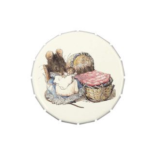 Dormouse de la madre y su niño jarrones de dulces