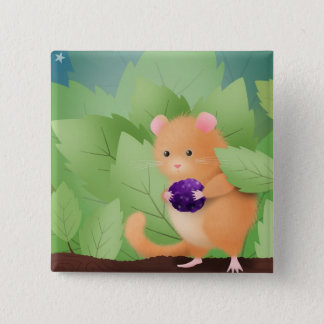Dormouse dinner - button badge