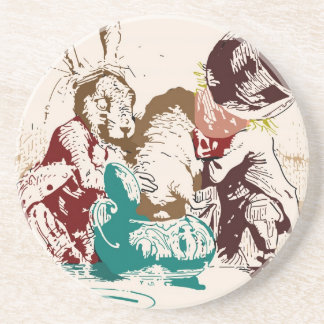 Dormouse in the Teapot Mad Tea Party Drink Coaster