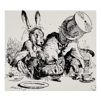 Dormouse In The Teapot Mad Tea Party Poster