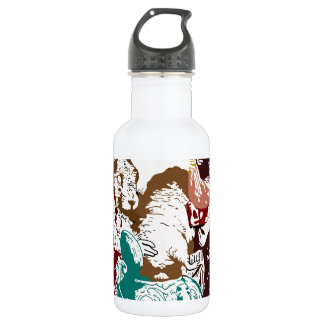 Dormouse in the Teapot Mad Tea Party Water Bottle