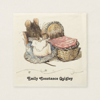Dormouse Mother and Child Disposable Napkin