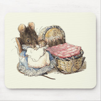 Dormouse Mother and Child Mouse Pad