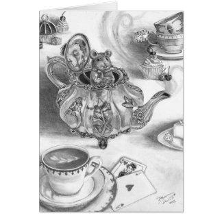 Dormouse Notecard Alice in Wonderland Notecard