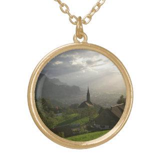 Dornbirn Oberfallenberg Austria Gold Plated Necklace