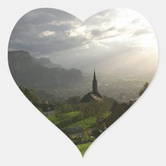 Dornbirn Oberfallenberg Austria Heart Sticker