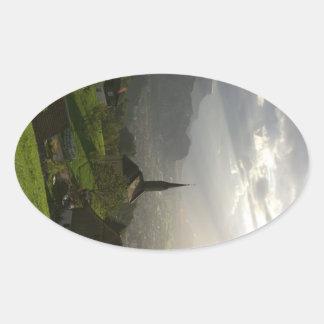 Dornbirn Oberfallenberg Austria Oval Sticker