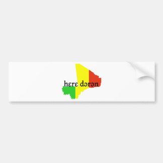 dɔrɔn del hɛrɛ -- solamente paz etiqueta de parachoque