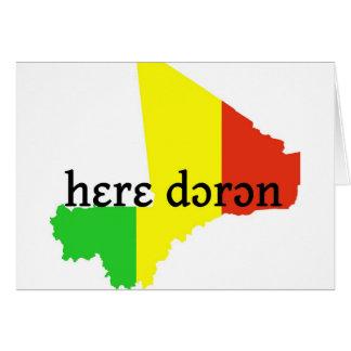 dɔrɔn del hɛrɛ -- solamente paz tarjetas