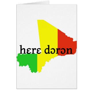 dɔrɔn del hɛrɛ -- solamente paz tarjeta