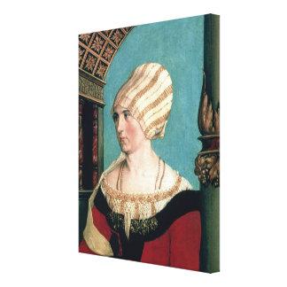 Dorothea Kannengiesser, 1516 (tempera on limewood) Canvas Print