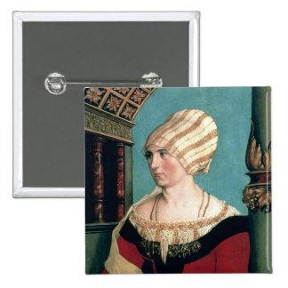 Dorothea Kannengiesser, 1516 (tempera on limewood) Pinback Button