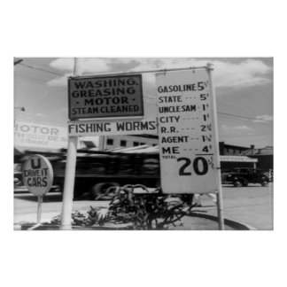 DOROTHEA LANG FAMOUS PHOTOGRAPHY - GAS PRICES POSTER