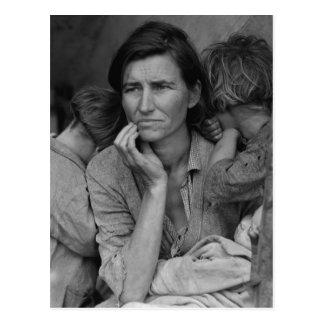 Dorothea Lange's Migrant Mother Florence Thompson Postcards