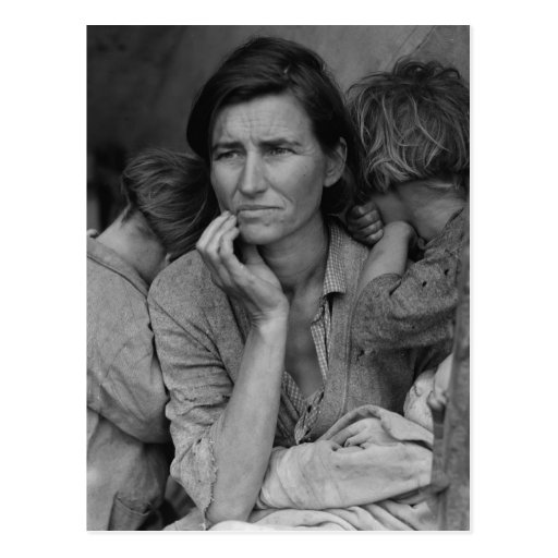 Dorothea Lange's Migrant Mother Florence Thompson Postcards