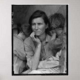 Dorothea Lange's Migrant Mother Florence Thompson Print