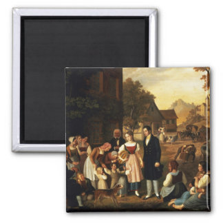 Dorothea's Farewell, from Goethe's 'Hermann and Do 2 Inch Square Magnet