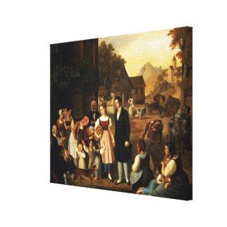 Dorothea's Farewell, from Goethe's 'Hermann and Do Canvas Print