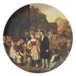 Dorothea's Farewell, from Goethe's 'Hermann and Do Dinner Plates