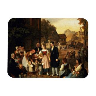 Dorothea's Farewell, from Goethe's 'Hermann and Do Rectangular Photo Magnet