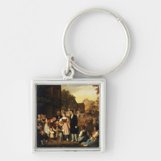 Dorothea's Farewell, from Goethe's 'Hermann and Do Silver-Colored Square Keychain