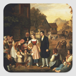 Dorothea's Farewell, from Goethe's 'Hermann and Do Square Sticker