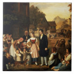 Dorothea's Farewell, from Goethe's 'Hermann and Do Tiles