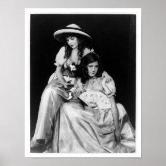 Dorothy and Lillian Gish Print