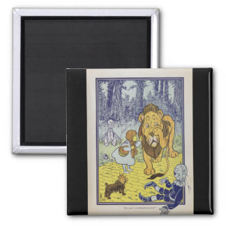 Dorothy and the Cowardly Lion from Wizard of Oz 2 Inch Square Magnet