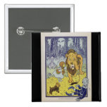 Dorothy and the Cowardly Lion from Wizard of Oz 2 Inch Square Button