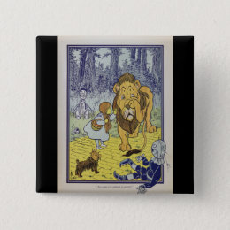 Dorothy and the Cowardly Lion from Wizard of Oz Pinback Button