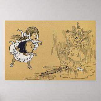 Dorothy derrite a la bruja traviesa posters